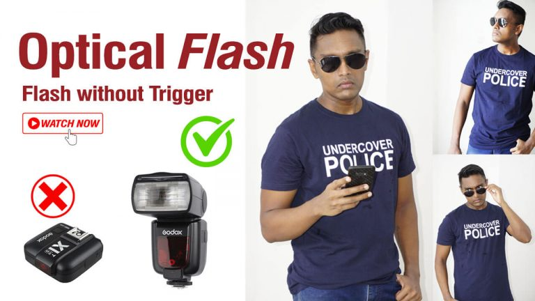How to use Flash Without Wireless Trigger – Optical Flash Slave mode Godox TT685s and Sony a6000