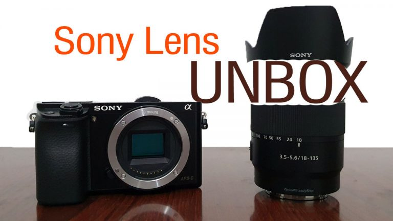 Sony e-mount 18-135mm F3.5-5.6 lens unboxing for a6000