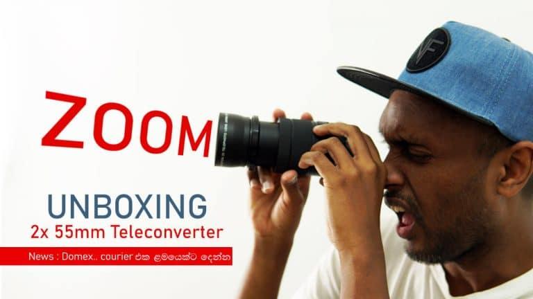 2x teleconverter UNBOXING for Zoom lens