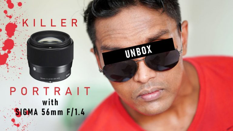 Unboxing Sigma 56mm F1.4 Sony E-mount lens