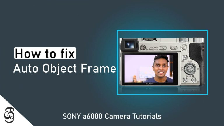 How to Disable Sony a6000 Camera Auto Object Framing