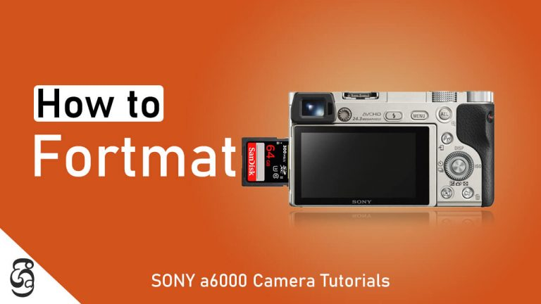 How to format SD memory card from Sony a6000 camera