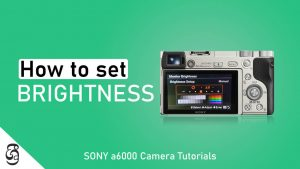 How to adjust Monitor Brightness of Sony a6000 camera