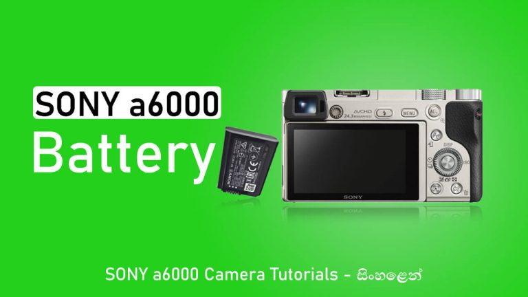 Sony a6000 mirrorless camera battery NP-FW50