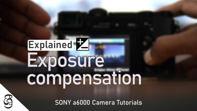 Sony a6000 Exposure Compensation