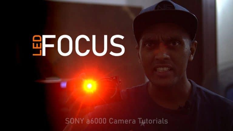 Sony a6000 Red LED Focus Illuminator and Audio Signal